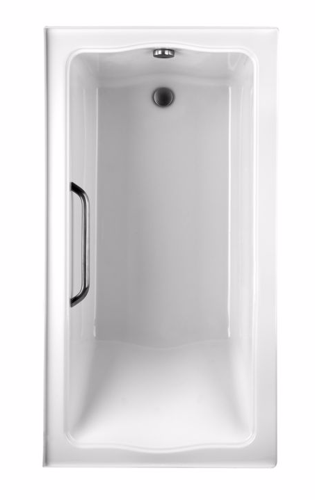 TOTO ABY782Q#12Y..2 Clayton Acrylic Soaker Bathtub With Grab Bar And Right Drain