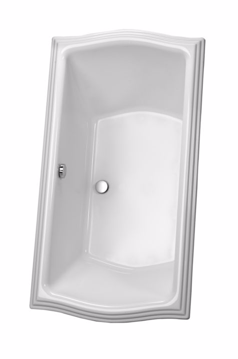 TOTO ABY784N#01Y Clayton Drop In Acrylic Soaker Bathtub With Grab Bar