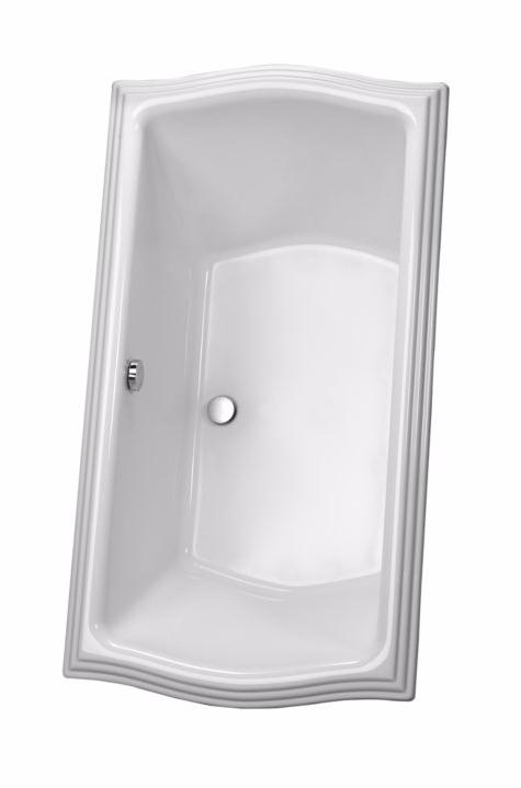 TOTO ABY784N#12Y Clayton Cast Acrylic Soaker Bathtub With Brass Grab Bar