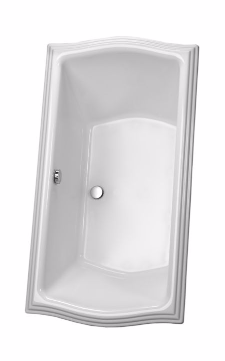 TOTO ABY789N#01Y Clayton Acrylic Soaker Bathroom Tub With Brass Grab Bar