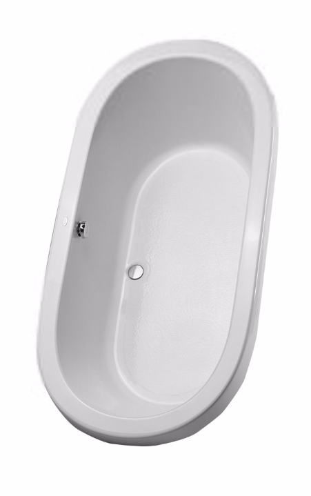 TOTO ABY794N#..N Nexus Oval Acrylic Soaking Bathroom Tub With Overflow