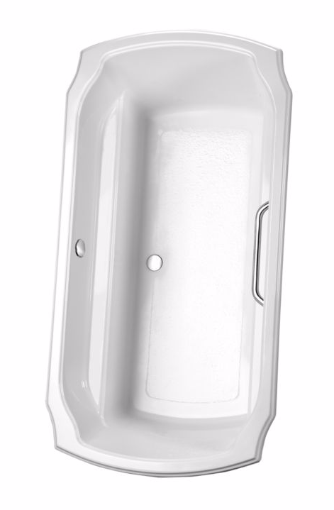 TOTO ABY974N#01Y Cotton Acrylic Soaking Bathtub With Brass Grab Bar
