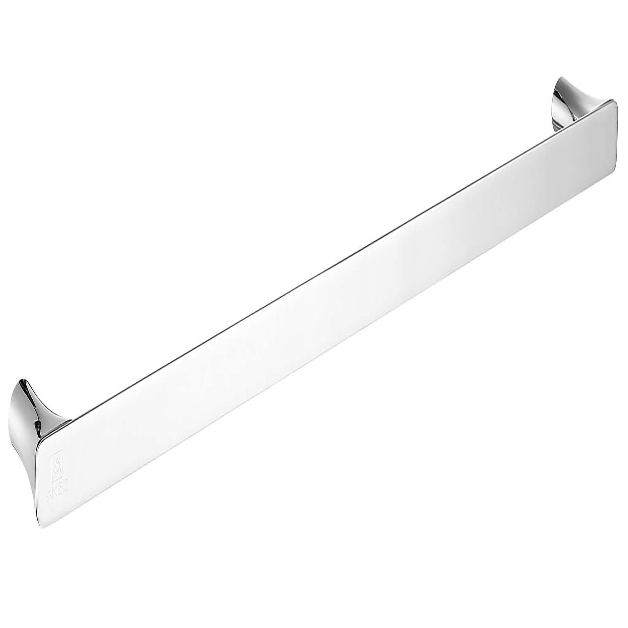ANZZI AC-AZ052 Essence Series Square Single Towel Bar In Polished Chrome