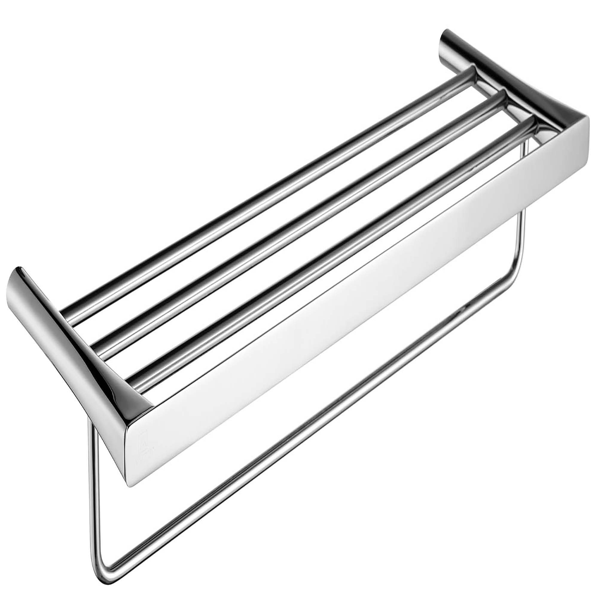 ANZZI AC-AZ058 Towel Rack With Integrated Towel Bar In Polished Chrome