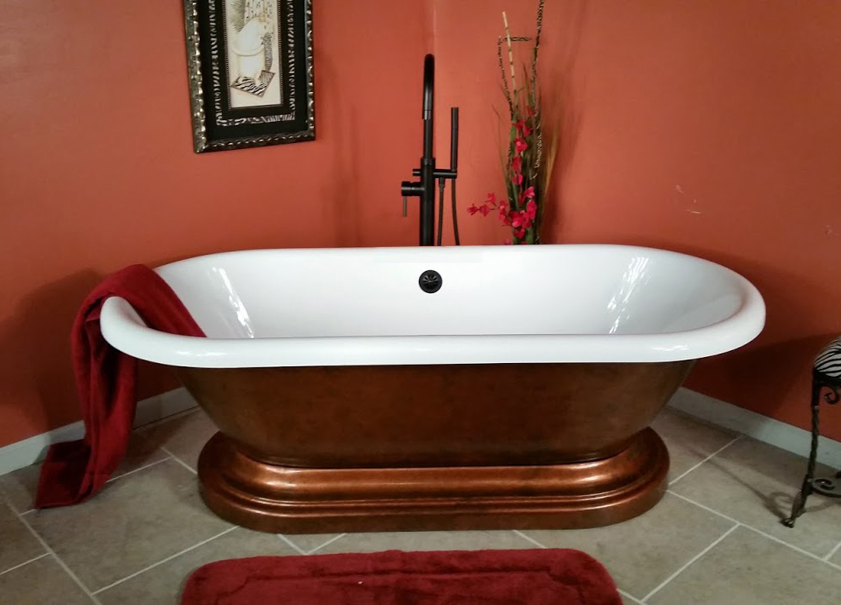 Cambridge ADE60P-NH-CB Double Ended Pedestal Tub With No Faucet Drillings