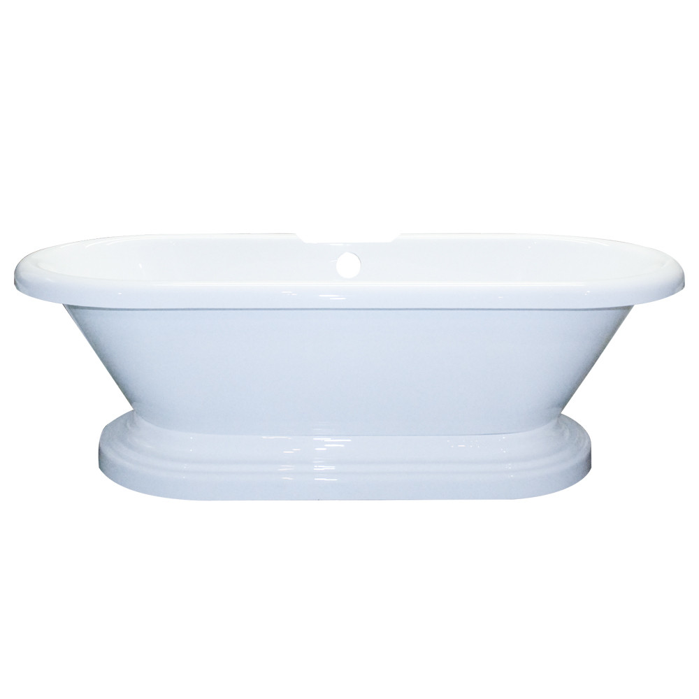 Cambridge ADEP-NH Acrylic Double Ended Pedestal Tub With No Faucet Holes