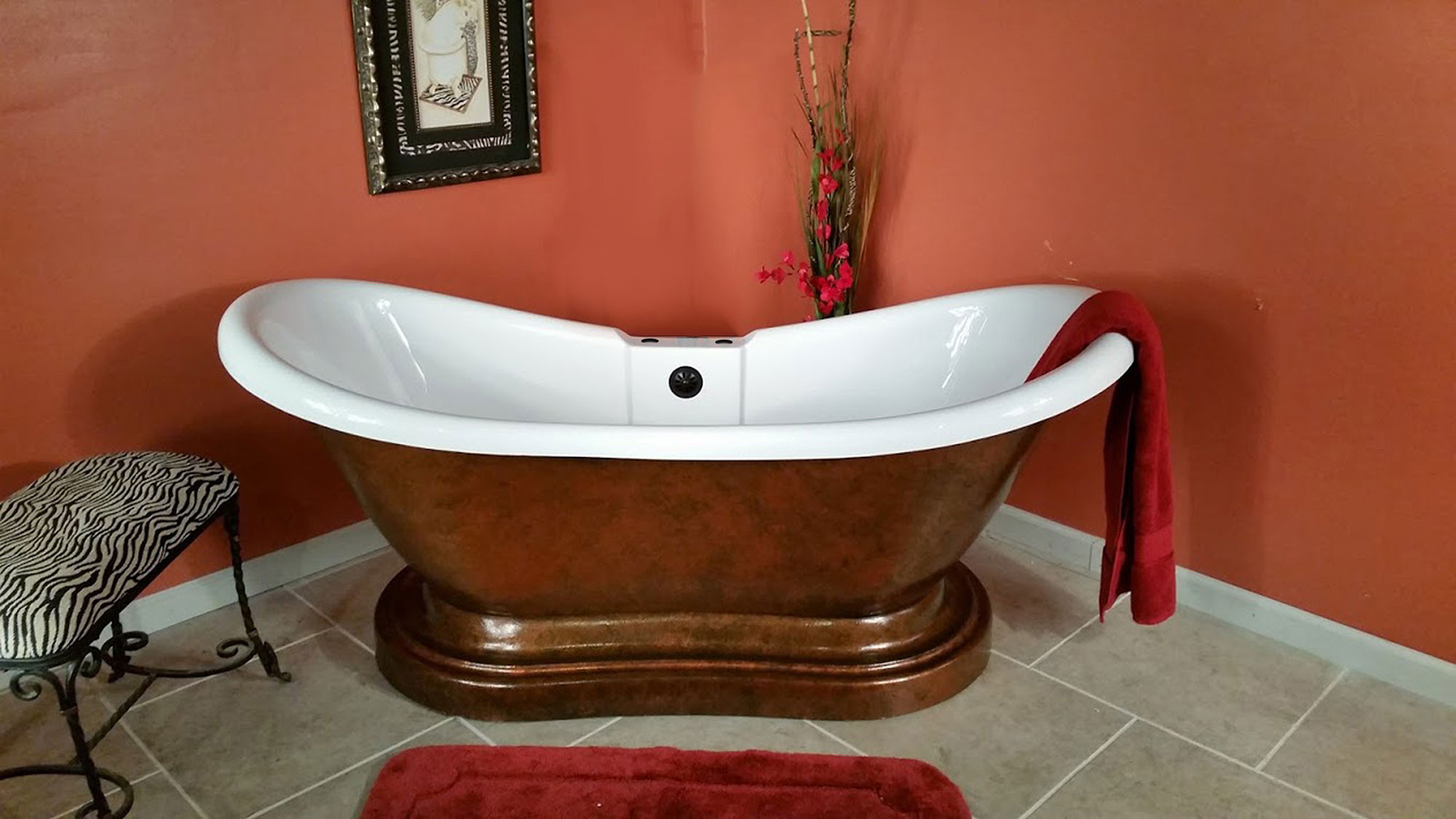 Cambridge ADES-PED-DH-CB Double Ended Pedestal Tub With Faucet Drillings