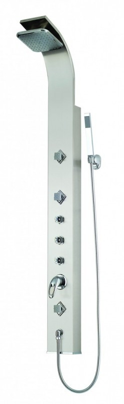 Ariel AED-9043B Shower Panel with Thermostatic Faucet and handheld Shower