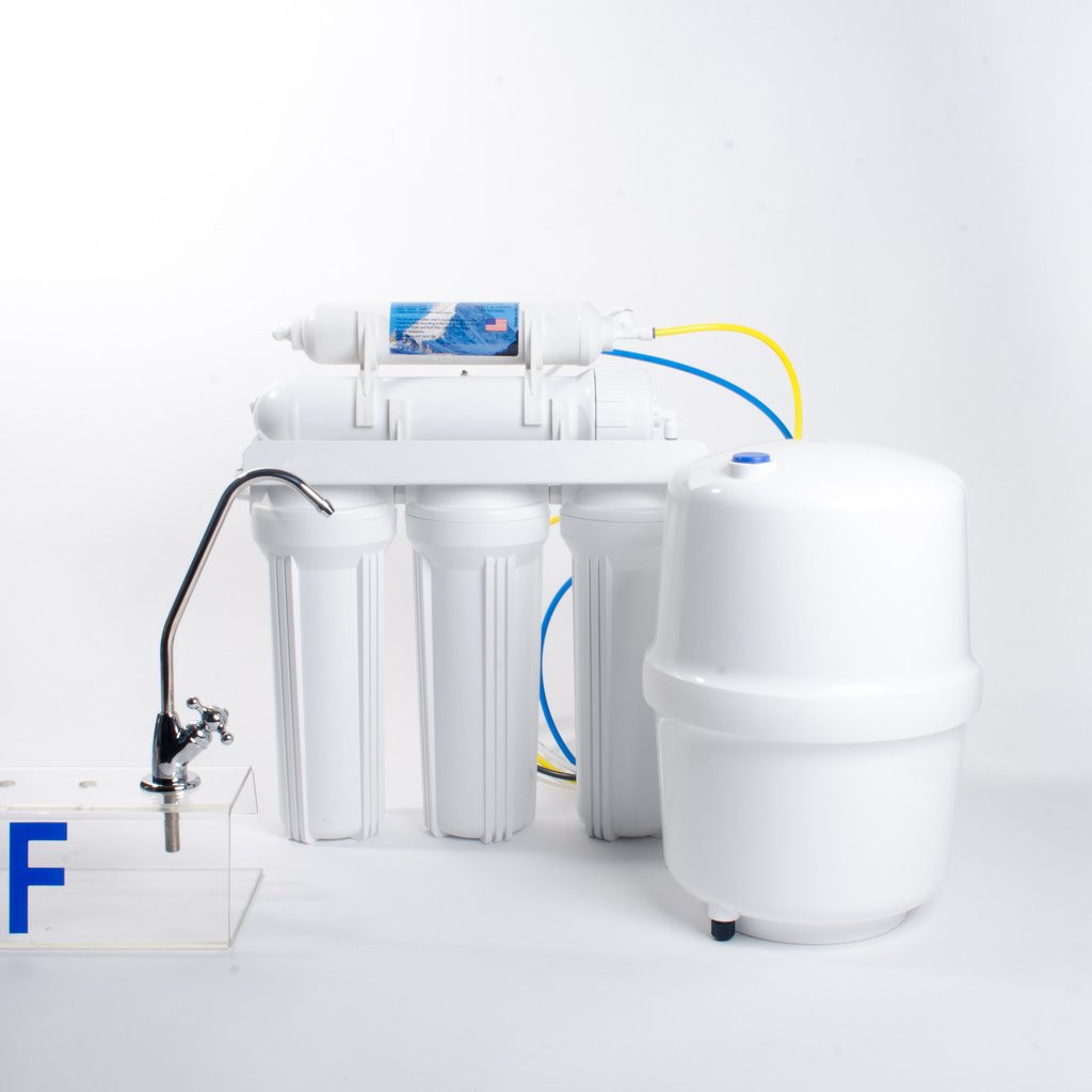 Anchor AF-5004 Six Stage 50 GPD Reverse Osmosis Water Filtration System with Alkaline Cartridge
