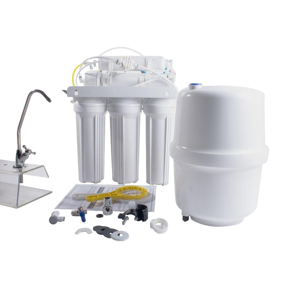 Anchor AF-5005 Six Stage 100 GPD Reverse Osmosis Water Filtration System with Alkaline Cartridge