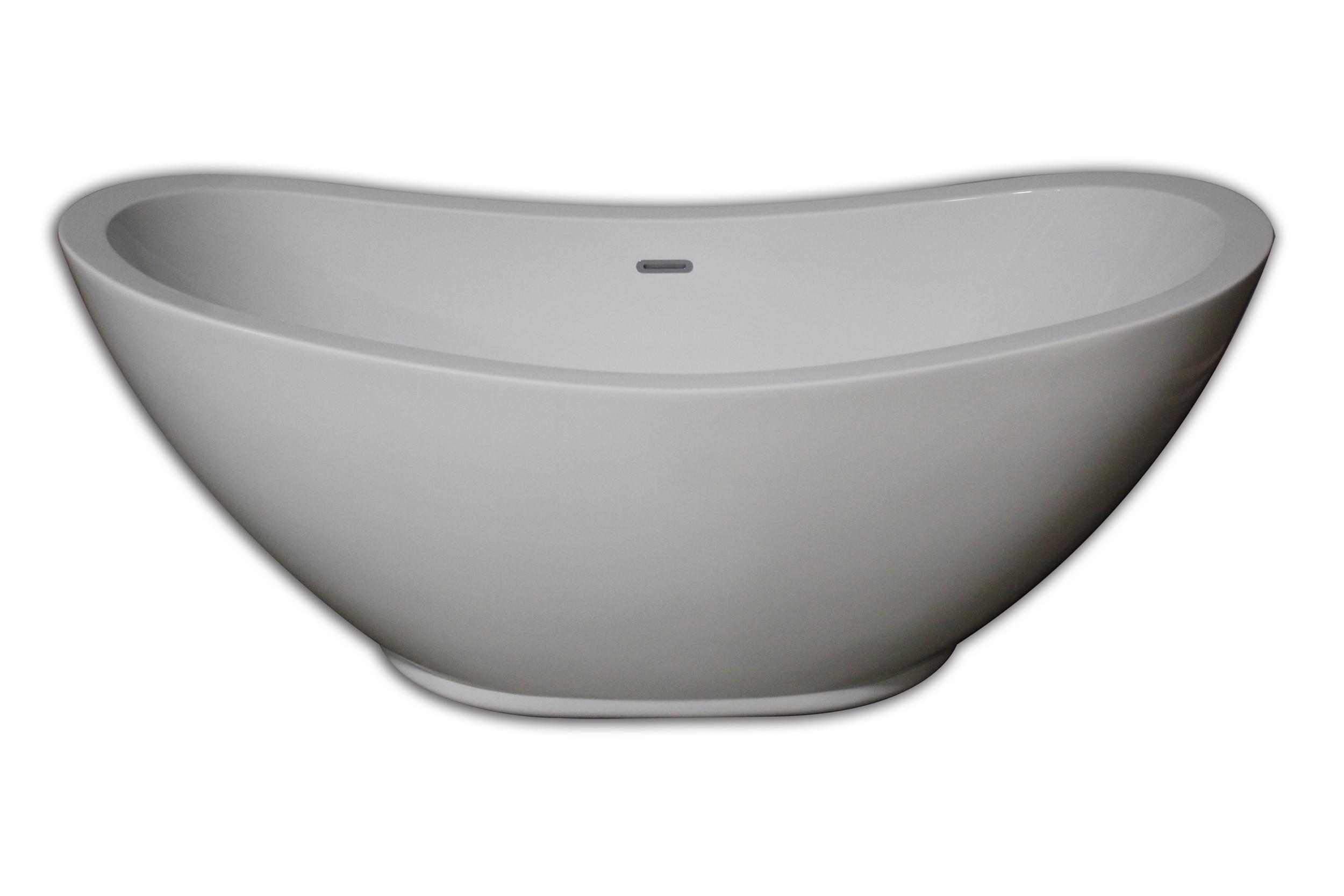 Cambridge AFDES Light Weight Acrylic Freestanding Double Slipper Bathtub