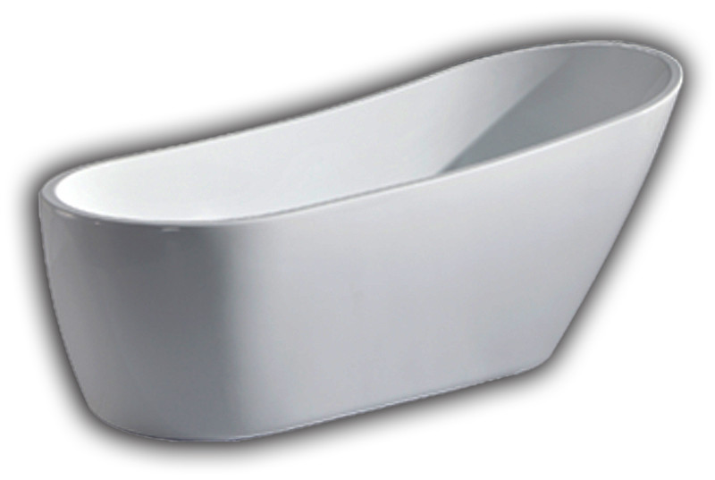 Cambridge AFST 67″ Modern Acrylic Freestanding Slipper Tub with Overflow