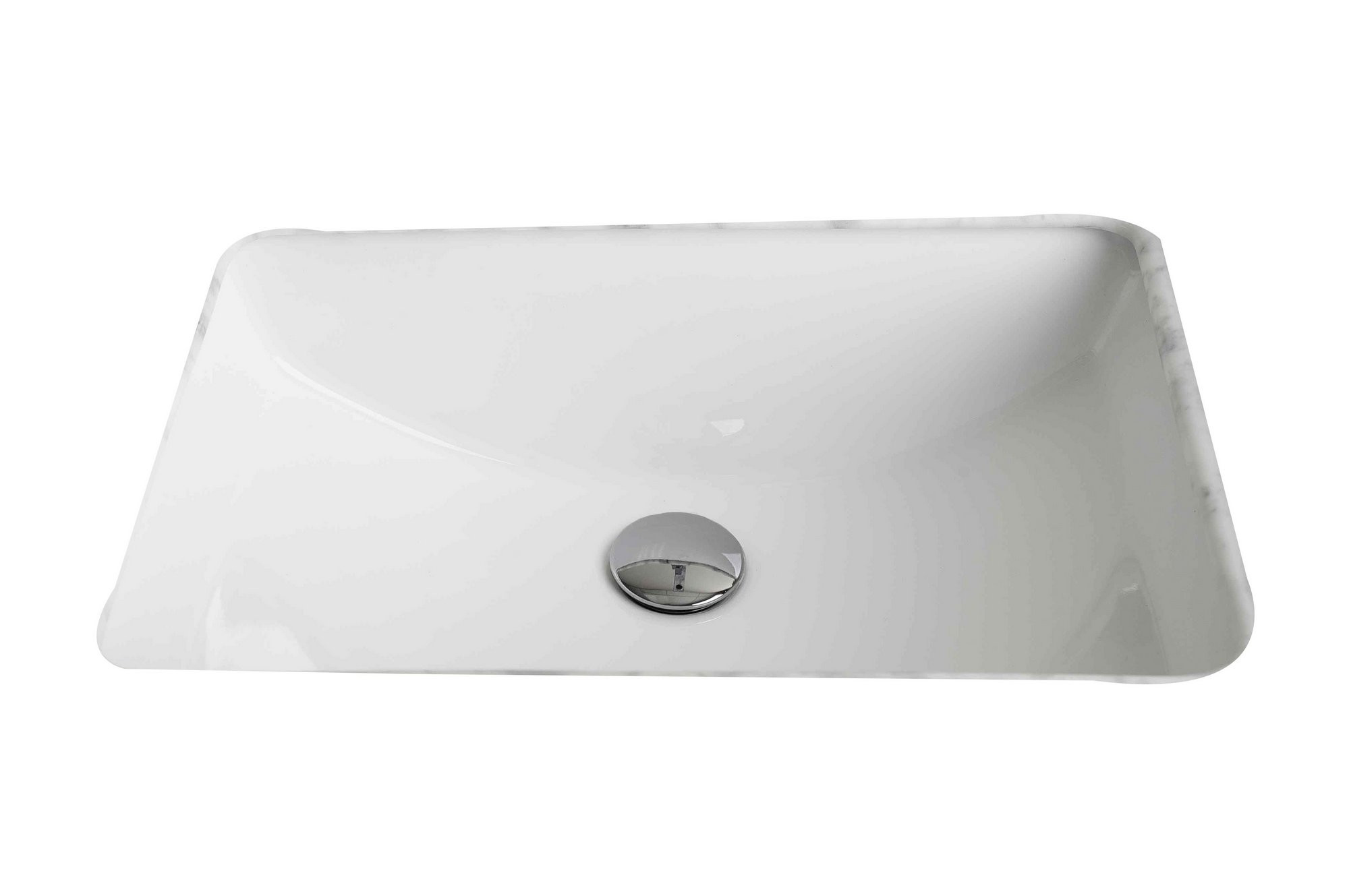 American Imagination AI-176 Rectangle Undermount Sink In White Color