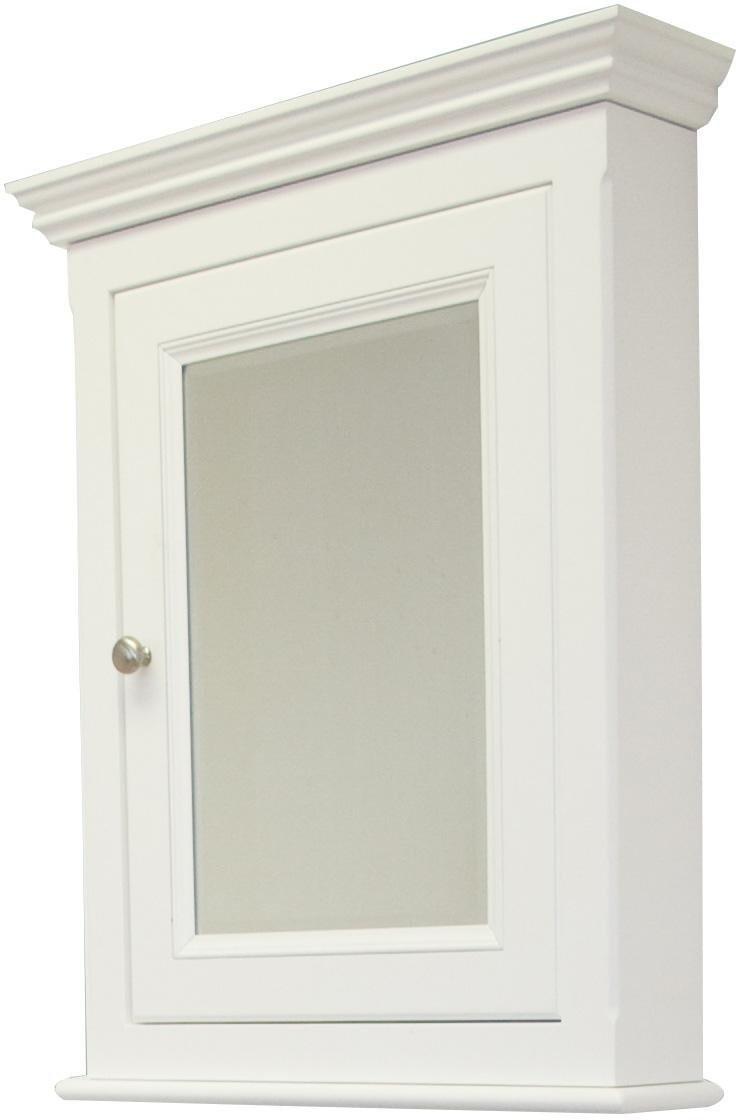 American Imagination AI-258 Perri Birch Wood Medicine Cabinet in White
