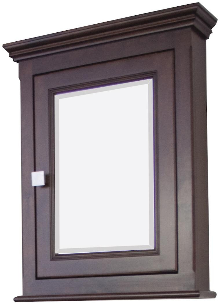 American Imagination AI-273 Single Door Wood Medicine Cabinet in Tobacco