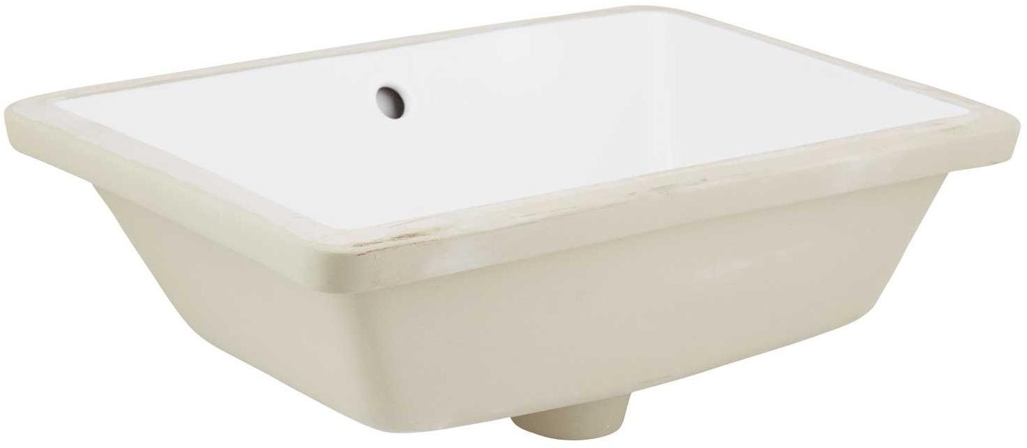 American Imagination AI-324 Rectangle Undermount Sink in White Color