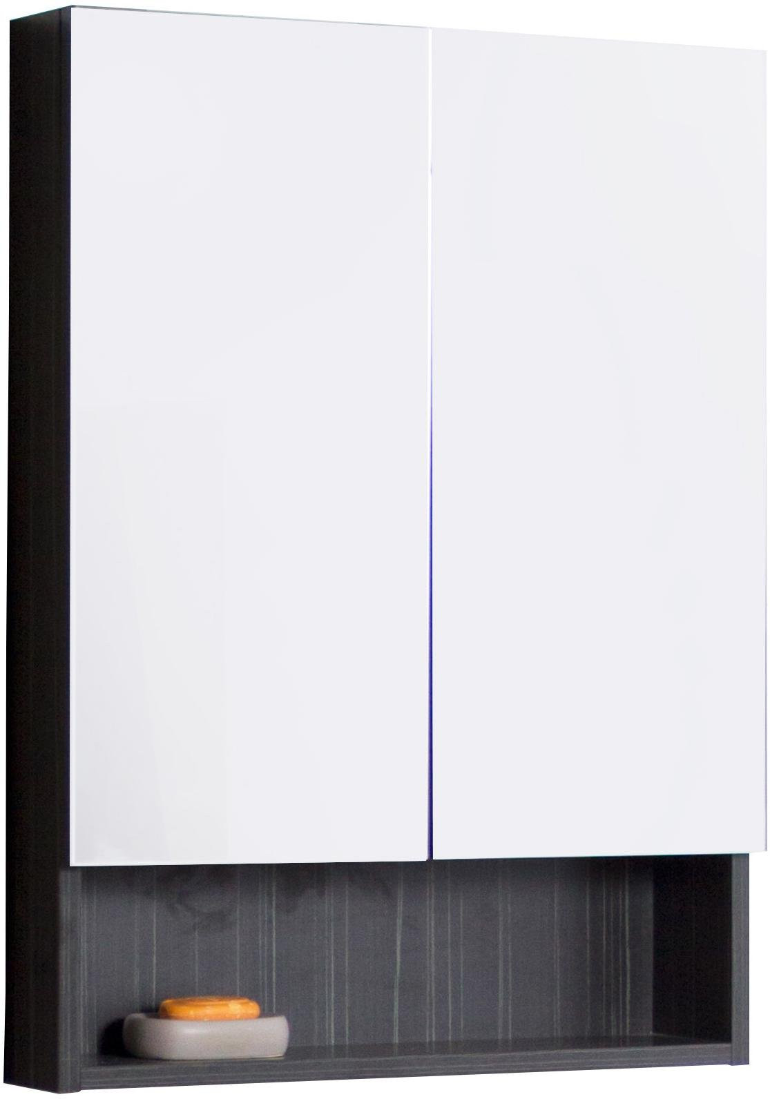 American Imagination AI-543 Modern Plywood Dawn Grey Medicine Cabinet with Mirror