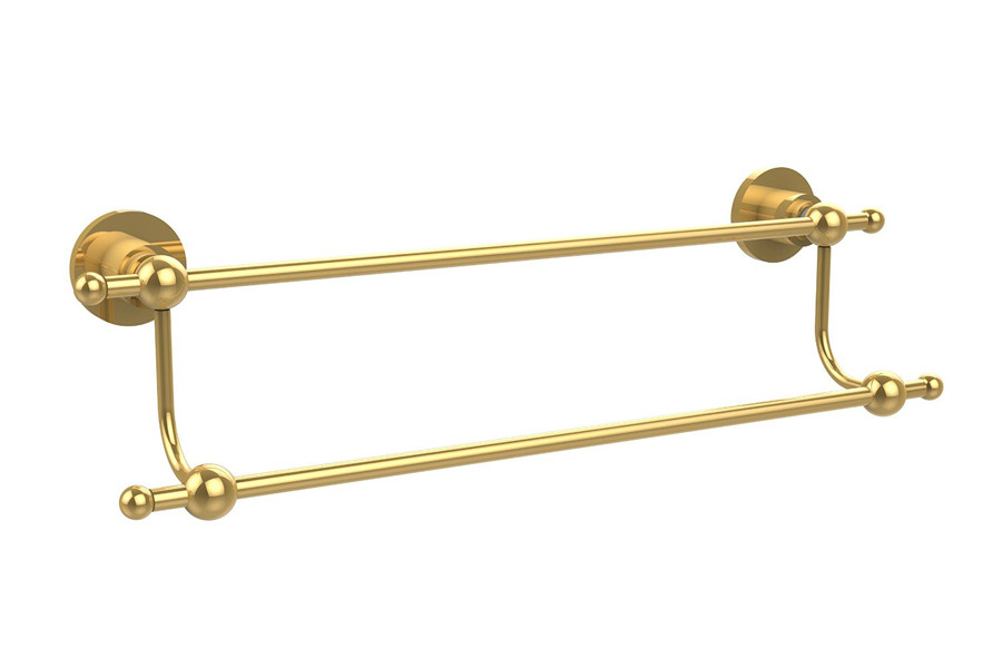 Allied Brass AP-72-36-PB 36 Inch Double Towel Bar in Polished Brass