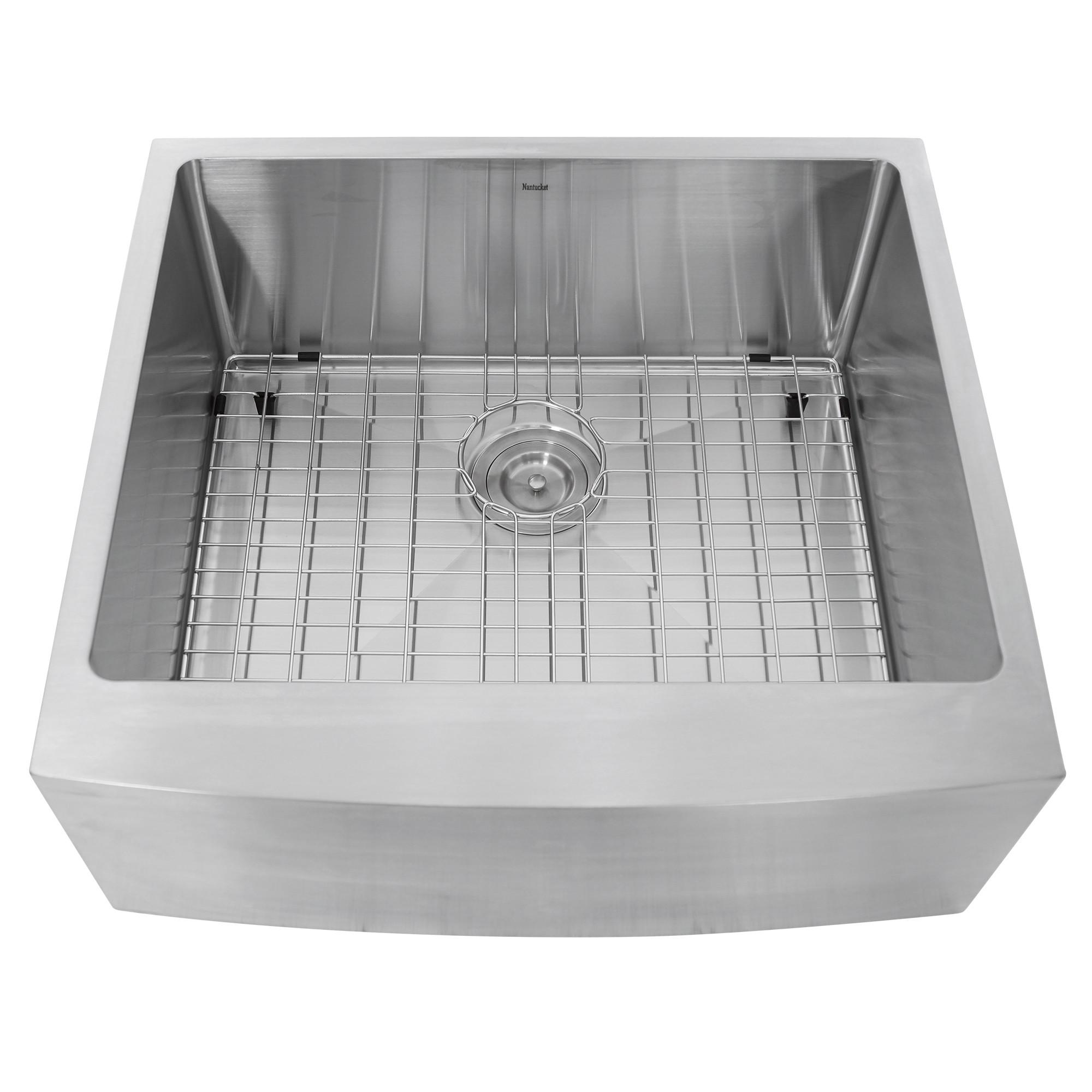 """Nantucket Sinks APRON2420-SR-16 - 24"""" Single Bowl Apron Front Kitchen Sink"""