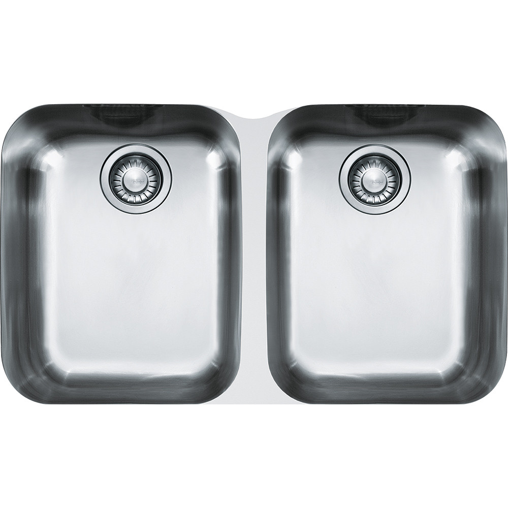 Franke ARX12031 Artisan Rectangular Double Bowl Kitchen Sink in Stainless Steel