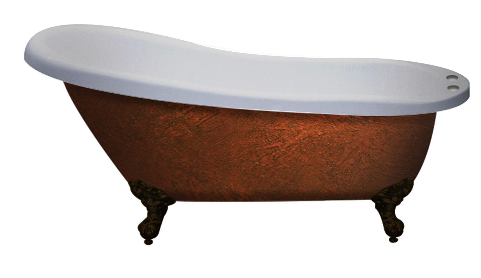 """Cambridge AST67-DH-ORB-CB Acrylic Clawfoot Bathtub With 7"""" Faucet Drillings"""