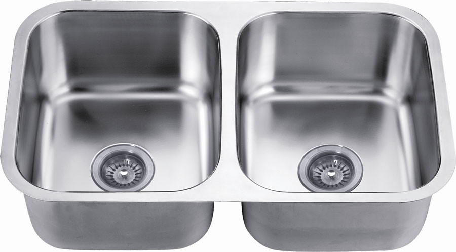 Dawn ASU109 Undermount Satin Double Bowl Kitchen Sink