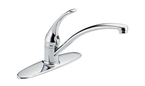 Delta B1310LF Foundations Core-B Single Handle Kitchen Faucet in Chrome