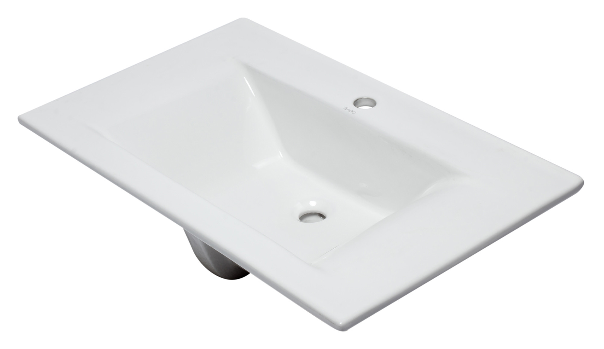"EAGO BB127 White Ceramic 32""x19"" Rectangular Drop In Sink"