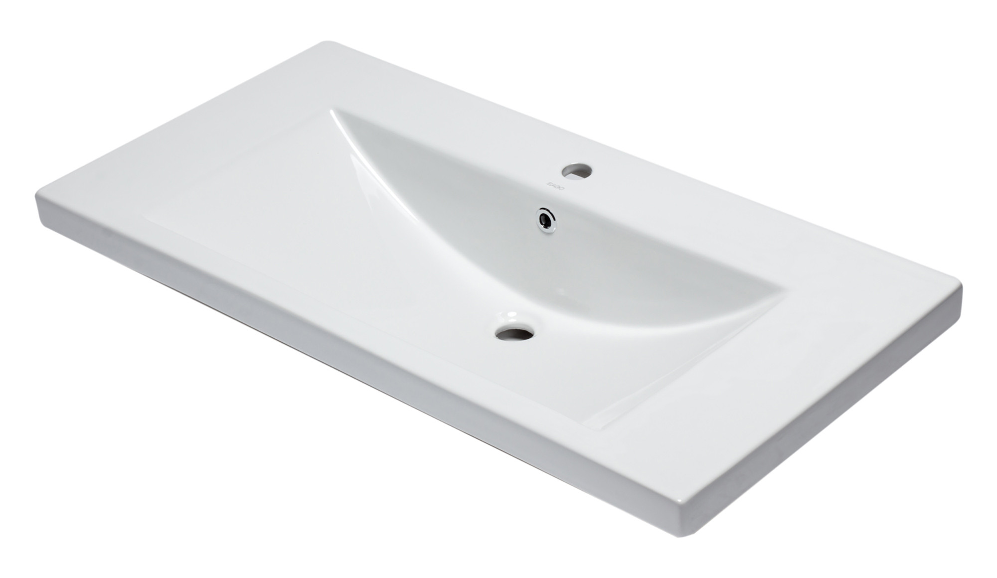 "EAGO BH002 White Ceramic 40""x19"" Rectangular Drop In Sink"