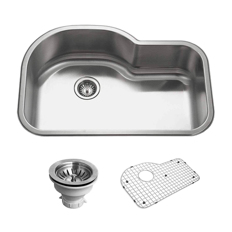 Houzer BSH-3200 Belleo Series Topmount Offset Single Bowl Kitchen Sink