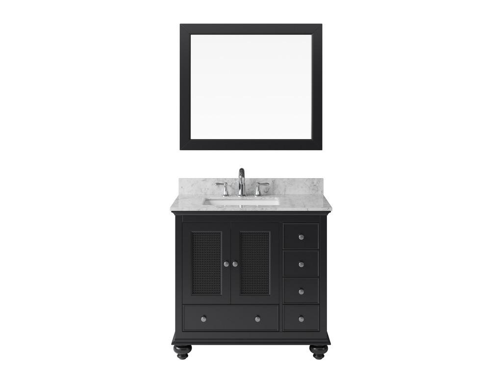 "Exclusive Heritage BV-10036S-WMES 36"" Espresso Single Vanity Set w/ Mirror"