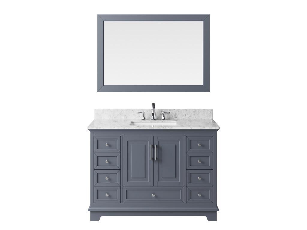 Exclusive Heritage BV-20048S-WMCG Cashmere Grey Single Vanity Set w/ Mirror