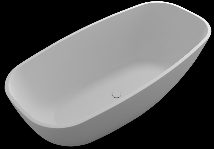 Control Brand BW1856MW Pure True Solid Surface Soaking Tub  in Matte white