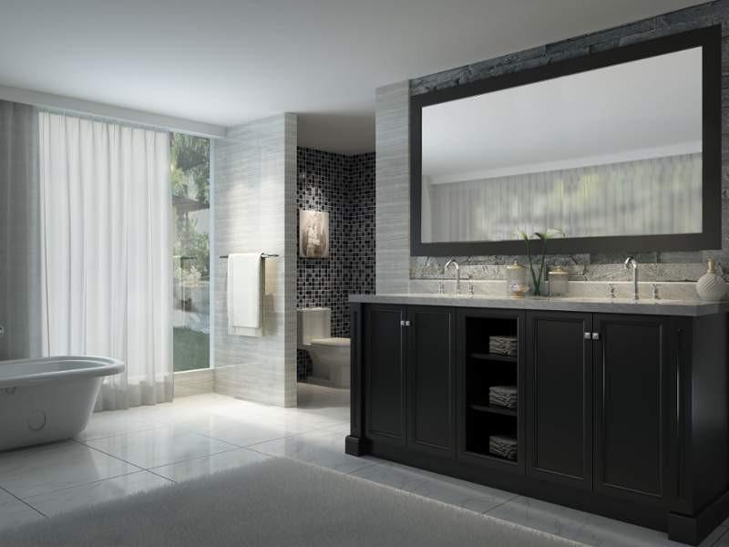 Ariel C072D-03 Westwood 72 Inch Double Sink Vanity Set in Black