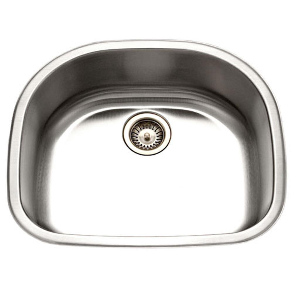 Houzer MS-2409-1 Medallion Designer Series Undermount Stainless Steel Single D Bowl Kitchen Sink