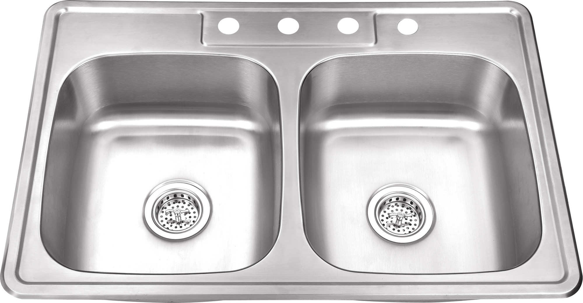 Cahaba CA113133 33 Inch 20 Gauge Stainless Steel Double Bowl Kitchen Sink