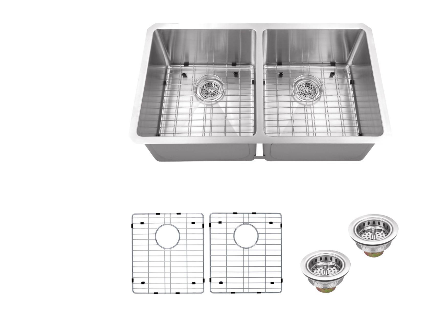 Cahaba CA221132 16 Gauge S. Steel KitchenSink w Grid Set & Drain Assemblies