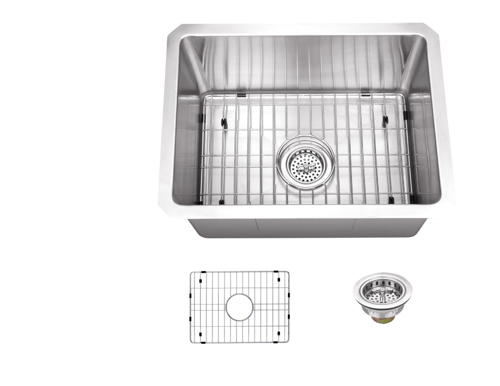Cahaba CA221SB15 Gauge S. Steel Single Bowl Bar and Prep Sink With Grid Set