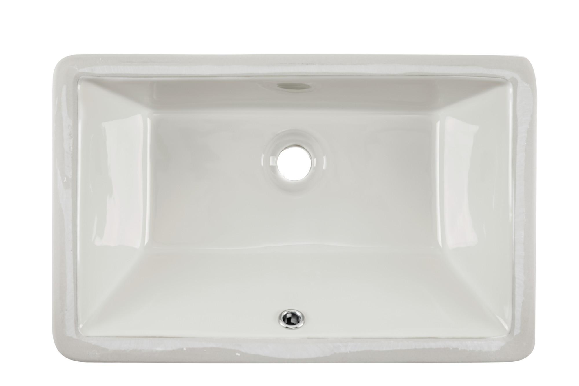 Cahaba CA425T18-B 18-1/2 x 11 Biscuit Glazed Porcelain Bathroom Sink
