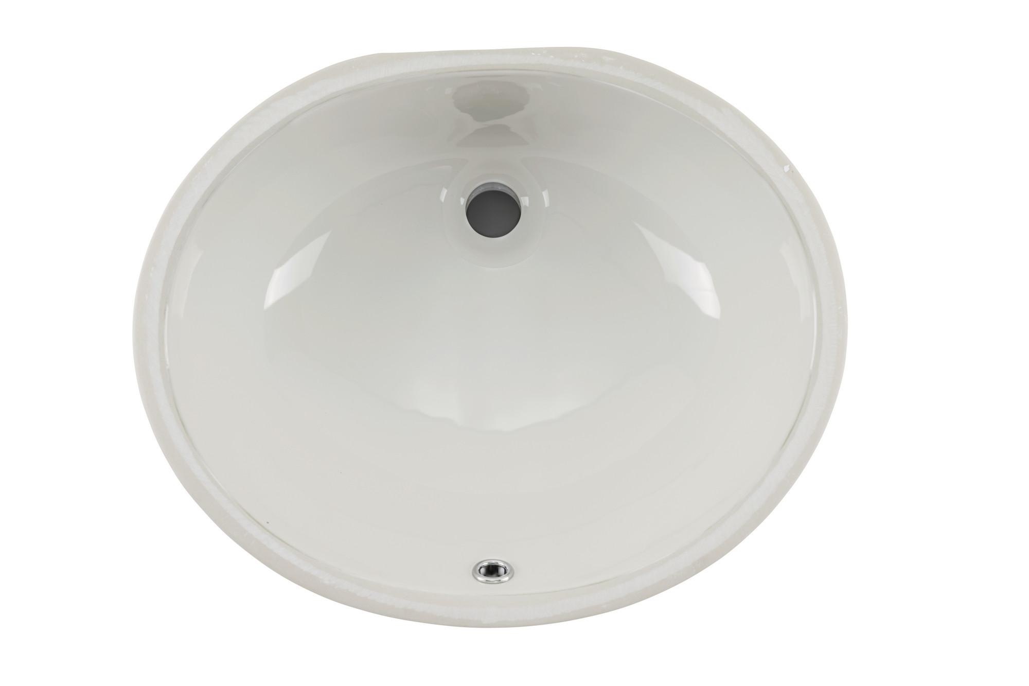 Cahaba CA425V15-B 15 x 12 Biscuit Glazed Porcelain Bathroom Sink