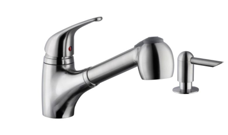 Cahaba CA6110SS Single Lever Handle Pull Out Faucet with Soap Dispenser
