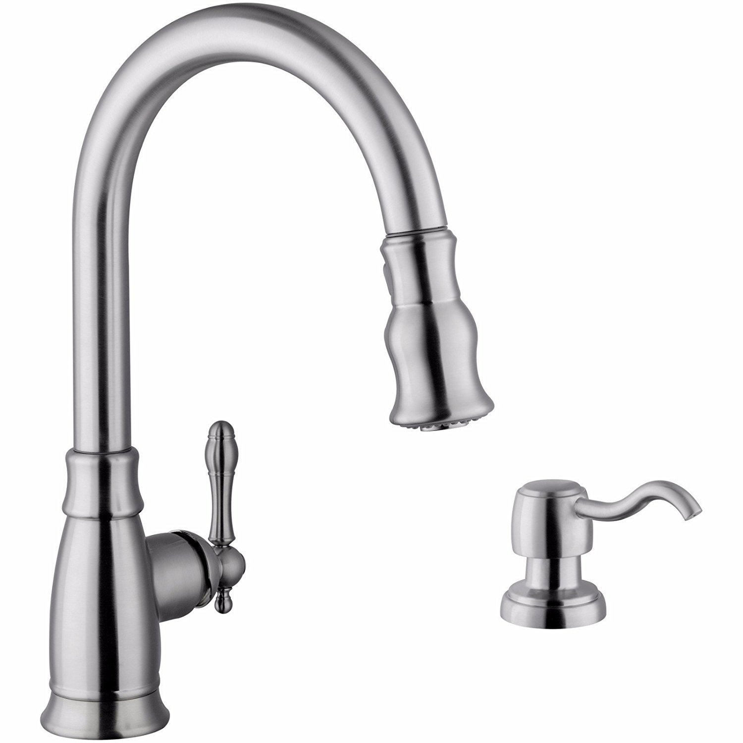 Cahaba CA6111SS Single Lever Handle Pull Down Faucet with Soap Dispenser