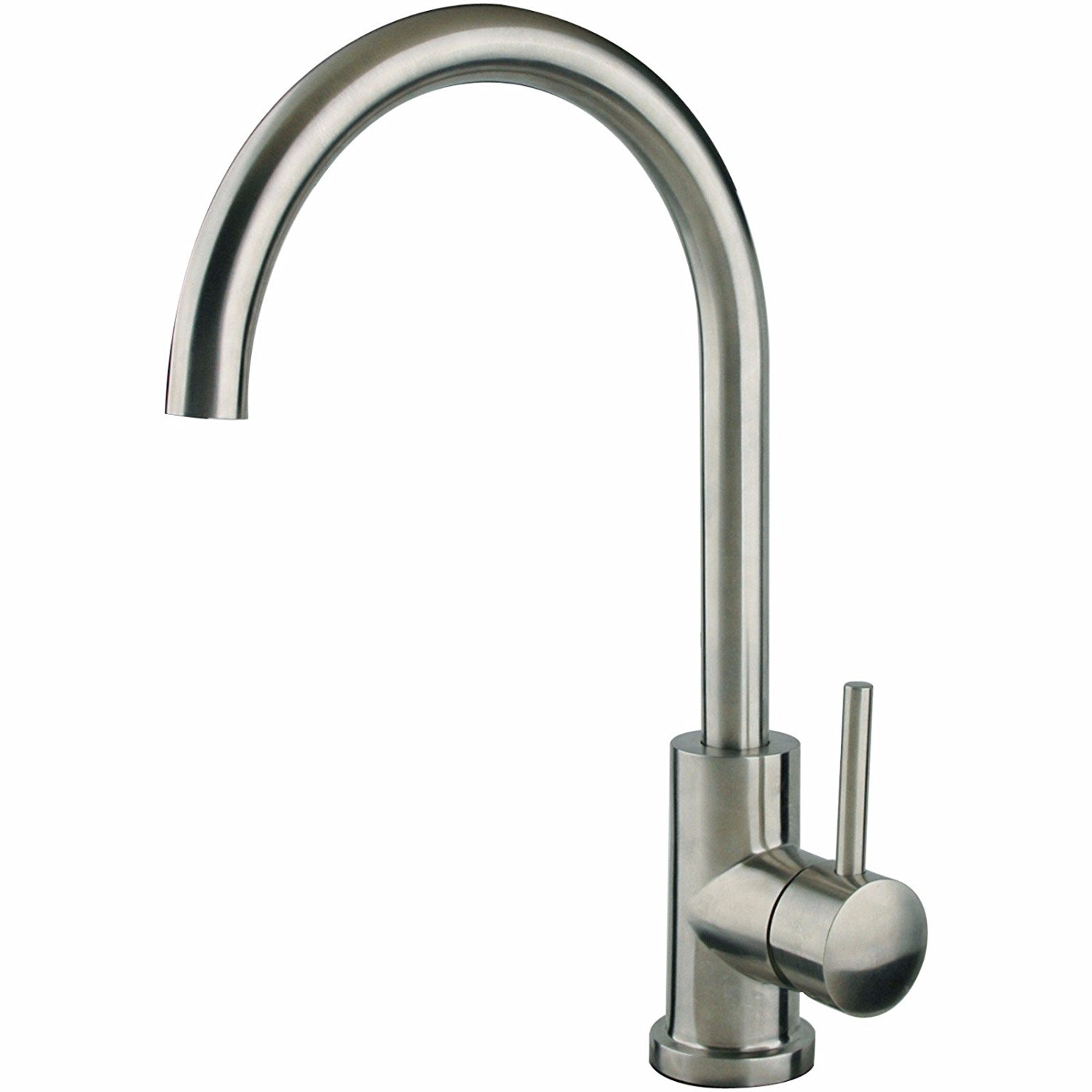 Cahaba CA6114SS Single Lever Handle Goose Neck Stainless Steel Bar Faucet
