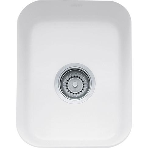 Franke CCK110-13WH Cisterna Rectangular Fireclay Kitchen Sink in White