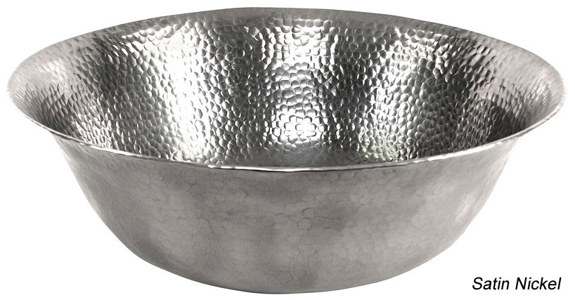Copper Factory CF159 Solid Hand Hammered Copper Round Vessel Sink