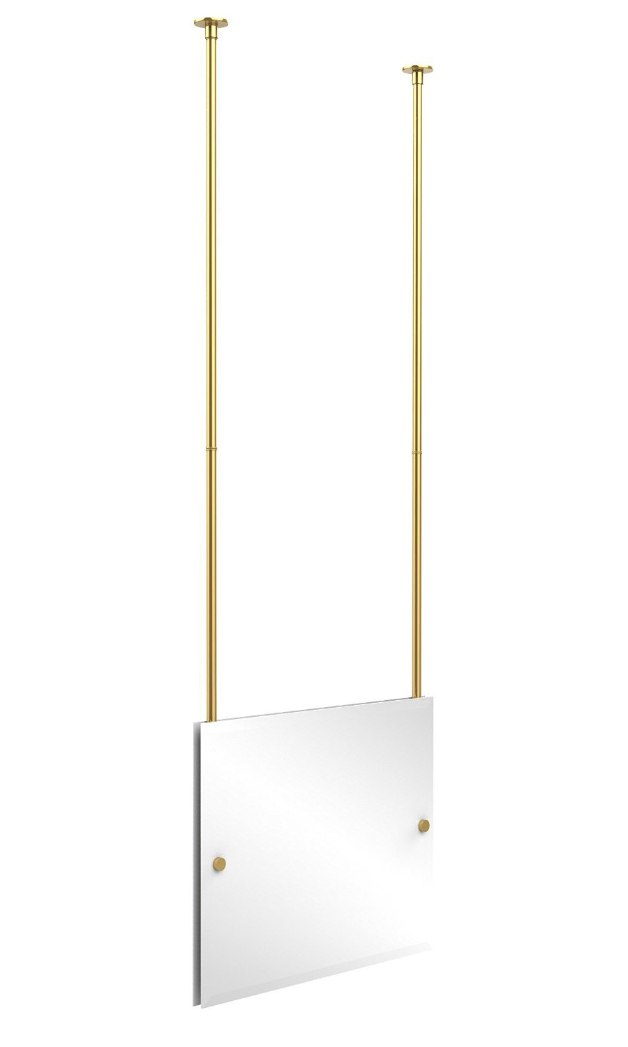 Allied Brass CH-93-PB Rectangle Ceiling-hung Mirror in Polished Brass