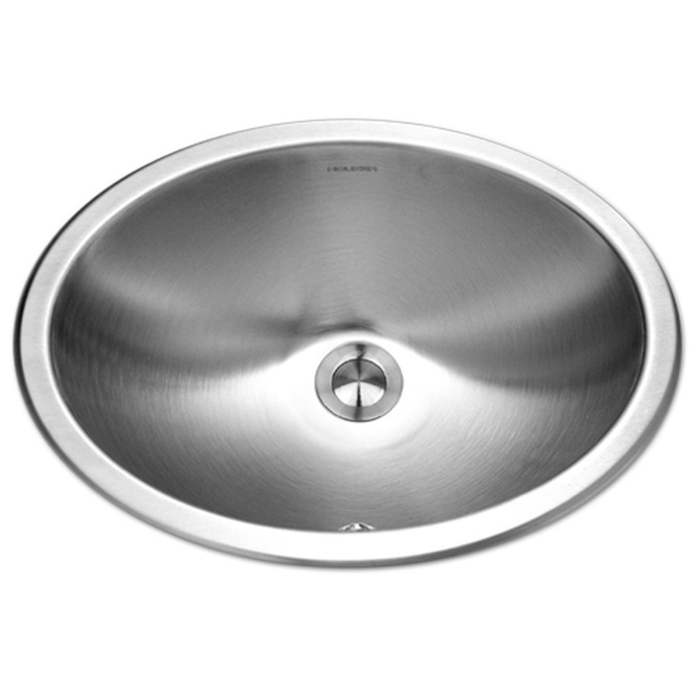 Houzer CHO-1800-1 Opus Series Undermount Stainless Steel Oval Bowl Lavatory Sink with Overflow