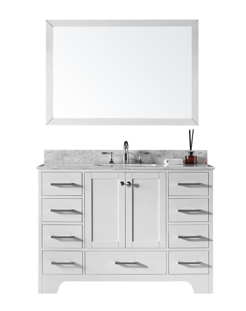 "Exclusive Heritage CL-10148S-WM 48"" Single Sink Vanity Set With Marble Top"