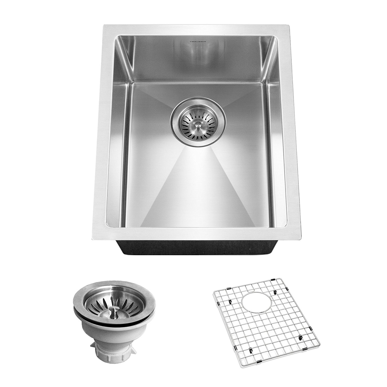Houzer CNB-1200 Savoir Series 10mm Radius Undermount Prep Bowl Kitchen Sink