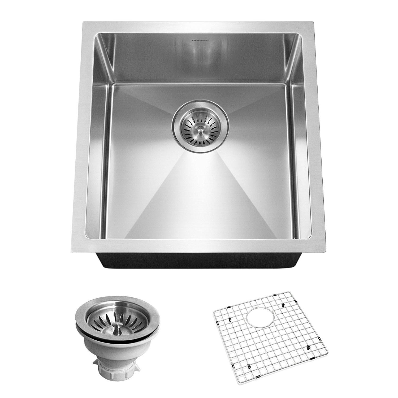 Houzer CNR-1700 Savoir Series 10mm Radius Undermount Bar/Prep Bowl Kitchen Sink